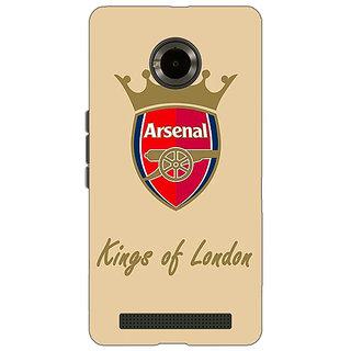 Jugaaduu Arsenal Back Cover Case For Micromax Yu Yuphoria - J890503