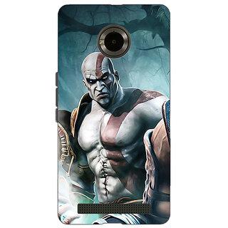 Jugaaduu God of War Back Cover Case For Micromax Yu Yuphoria - J890876
