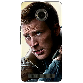 Jugaaduu Captain America Back Cover Case For Micromax Yu Yuphoria - J890890