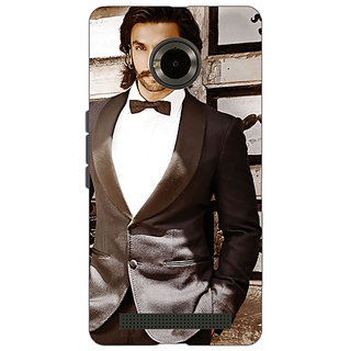 Jugaaduu Bollywood Superstar Ranveer Singh Back Cover Case For Micromax Yu Yuphoria - J890909