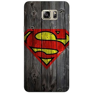 Jugaaduu Superheroes Superman Back Cover Case For Samsung S6 Edge+ - J900384