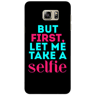 Jugaaduu Selfie Quote Back Cover Case For Samsung S6 Edge+ - J901497