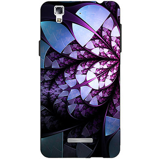 Jugaaduu Abstract Flower Pattern Back Cover Case For Micromax Yu Yureka - J881505