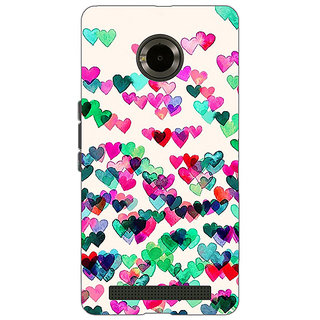 Jugaaduu Hearts in the Air Pattern Back Cover Case For Micromax Yu Yuphoria - J890233