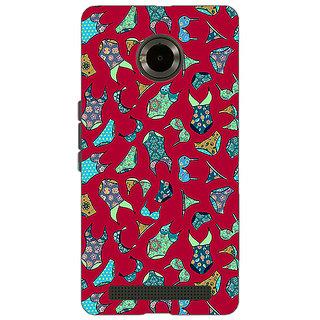 Jugaaduu Inners Pattern Back Cover Case For Micromax Yu Yuphoria - J890245