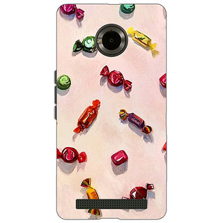 Jugaaduu Toffee Pattern Back Cover Case For Micromax Yu Yuphoria - J890247
