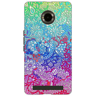 Jugaaduu Flower Gardens Pattern Back Cover Case For Micromax Yu Yuphoria - J890249