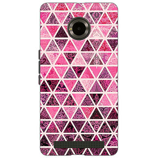 Jugaaduu Red Triangles Pattern Back Cover Case For Micromax Yu Yuphoria - J890266