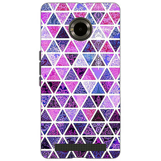 Jugaaduu Purple Triangles Pattern Back Cover Case For Micromax Yu Yuphoria - J890268