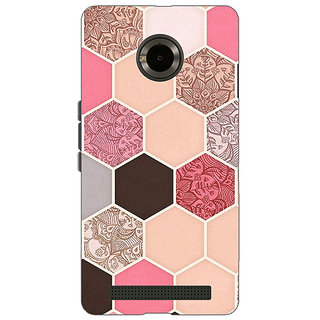 Jugaaduu Pink Hexagons Pattern Back Cover Case For Micromax Yu Yuphoria - J890271