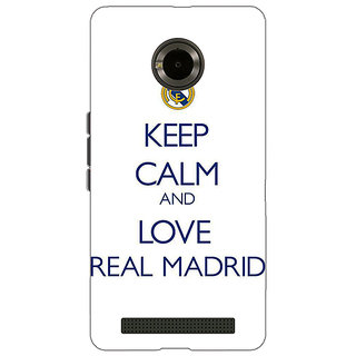 Jugaaduu Real Madrid Back Cover Case For Micromax Yu Yuphoria - J890600