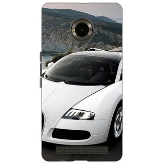 Jugaaduu Super Car Bugatti Back Cover Case For Micromax Yu Yuphoria - J890628