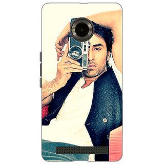 Jugaaduu Bollywood Superstar Ranbir Kapoor Back Cover Case For Micromax Yu Yuphoria - J890961