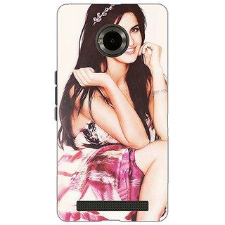 Jugaaduu Bollywood Superstar Katrina Kaif Back Cover Case For Micromax Yu Yuphoria - J890979