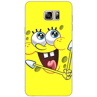 Jugaaduu Spongebob Back Cover Case For Samsung S6 Edge+ - J900460