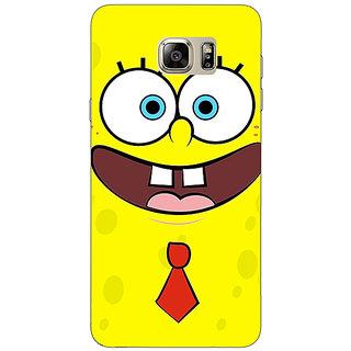 Jugaaduu Spongebob Back Cover Case For Samsung S6 Edge+ - J900461