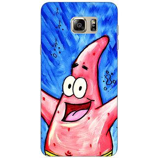Jugaaduu Spongebob Patrick Back Cover Case For Samsung S6 Edge+ - J900463