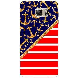 Jugaaduu Anchor Pattern  Back Cover Case For Samsung S6 Edge+ - J900786