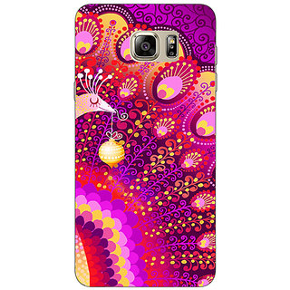 Jugaaduu Tribal Peacock Back Cover Case For Samsung S6 Edge+ - J900803