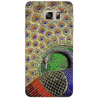 Jugaaduu Paisley Beautiful Peacock Back Cover Case For Samsung S6 Edge+ - J901586