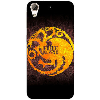 Jugaaduu Game Of Thrones GOT House Targaryen  Back Cover Case For HTC Desire 626 - J920149
