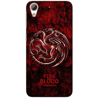 Jugaaduu Game Of Thrones GOT House Targaryen  Back Cover Case For HTC Desire 626 - J920163