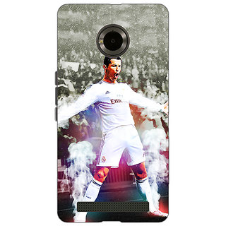 Jugaaduu Cristiano Ronaldo Real Madrid Back Cover Case For Micromax Yu Yuphoria - J890305