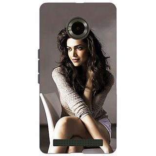 Jugaaduu Bollywood Superstar Deepika Padukone Back Cover Case For Micromax Yu Yuphoria - J891038