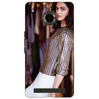 Jugaaduu Bollywood Superstar Deepika Padukone Back Cover Case For Micromax Yu Yuphoria - J891053