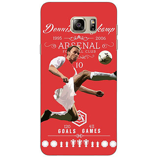 Jugaaduu Arsenal Dennis Bergkamp Back Cover Case For Samsung S6 Edge+ - J900501