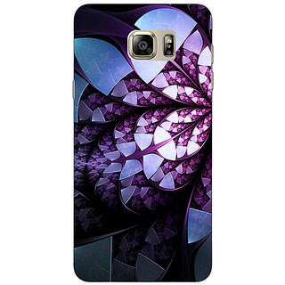 Jugaaduu Abstract Flower Pattern Back Cover Case For Samsung Galaxy Note 5 - J911505