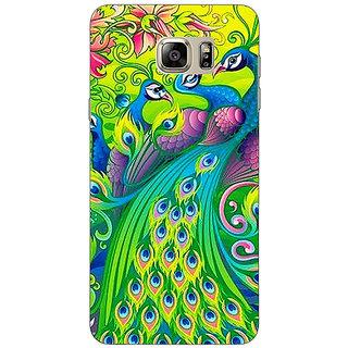 Jugaaduu Paisley Beautiful Peacock Back Cover Case For Samsung S6 Edge+ - J901596