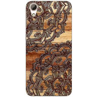 Jugaaduu Black Brown Doodle Pattern Back Cover Case For HTC Desire 626 - J920213
