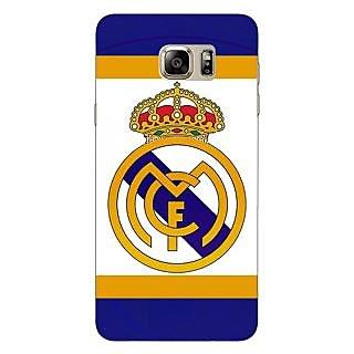 Jugaaduu Real Madrid Back Cover Case For Samsung S6 Edge+ - J900594