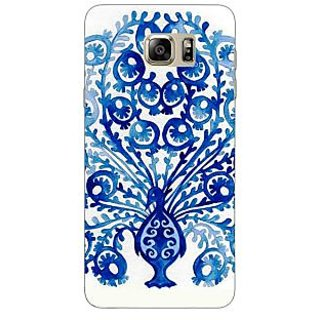 Jugaaduu Paisley Beautiful Peacock Back Cover Case For Samsung Galaxy Note 5 - J911579