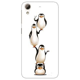 Jugaaduu Penguins Madagascar Back Cover Case For HTC Desire 626 - J921385
