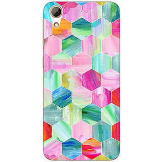 Jugaaduu Hexagon  Pattern Back Cover Case For HTC Desire 626G - J930222