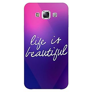 Jugaaduu Quotes Life is Beautiful Back Cover Case For Samsung Galaxy A3 - J571131
