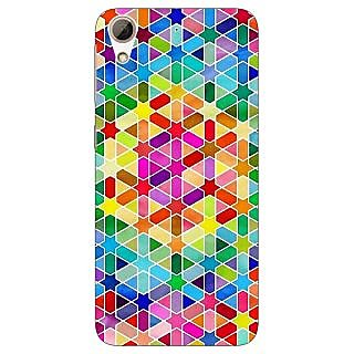 Jugaaduu Hexagon Star Pattern Back Cover Case For HTC Desire 626G - J930280