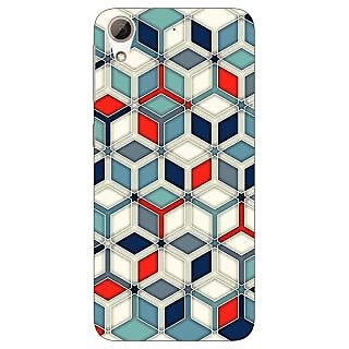 Jugaaduu Wild Hexagon Pattern Back Cover Case For HTC Desire 626G - J930282