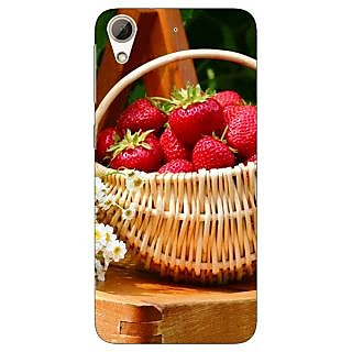 Jugaaduu Strawberry Love Back Cover Case For HTC Desire 626G - J930697