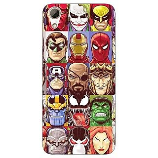 Jugaaduu Super Heroes and Villains Back Cover Case For HTC Desire 626G - J931401