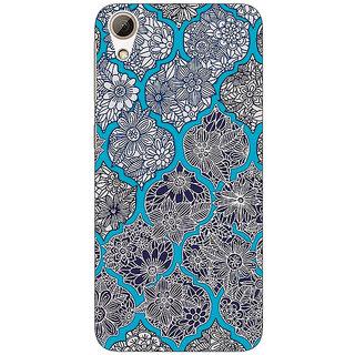 Jugaaduu Blue Morroccan Pattern Back Cover Case For HTC Desire 626G+ - J940243