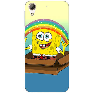 Jugaaduu Spongebob Back Cover Case For HTC Desire 626 - J920469