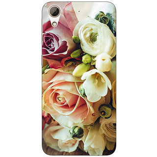 Jugaaduu Roses Back Cover Case For HTC Desire 626G - J930721