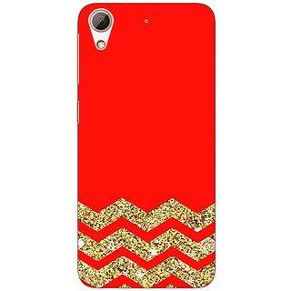 Jugaaduu Orange Faux Glitter Back Cover Case For HTC Desire 626G - J930769