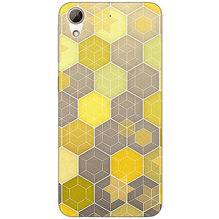 Jugaaduu Yellow Hexagons Pattern Back Cover Case For HTC Desire 626G+ - J940273