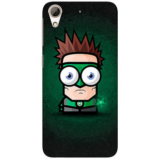 Jugaaduu Big Eyed Superheroes Green Lantern Back Cover Case For HTC Desire 626G - J930399