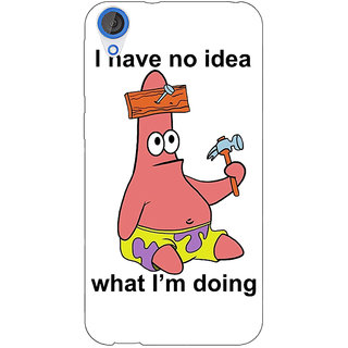 Jugaaduu Spongebob Patrick Back Cover Case For HTC Desire 826 - J590474