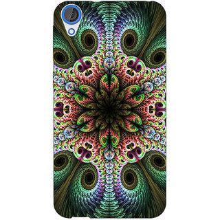 Jugaaduu Paisley Beautiful Peacock Back Cover Case For HTC Desire 826 - J591597
